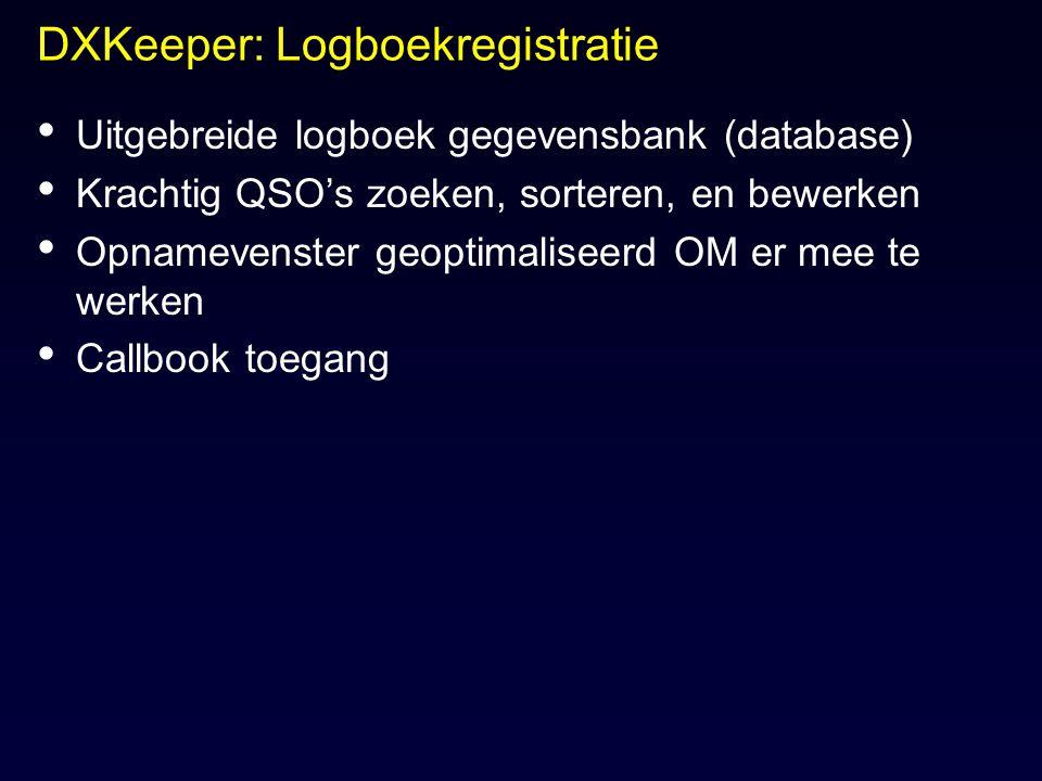 DXKeeper: Logboekregistratie