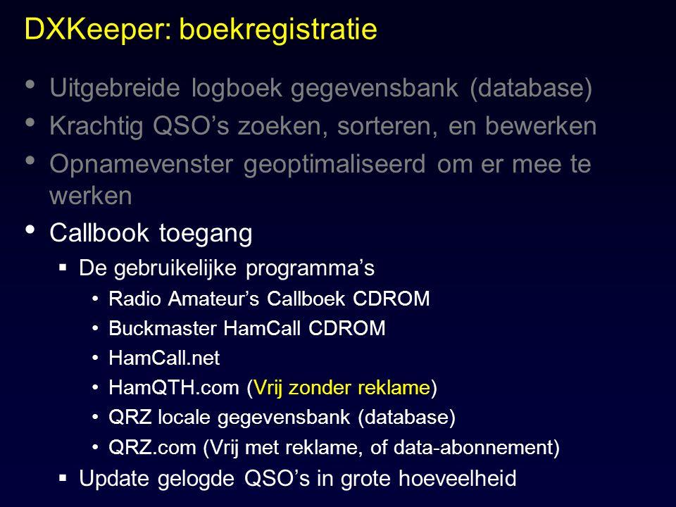 DXKeeper: boekregistratie
