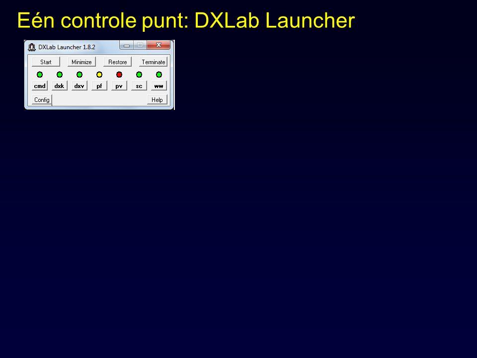 Eén controle punt: DXLab Launcher