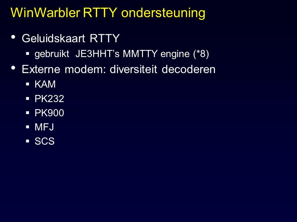 WinWarbler RTTY ondersteuning