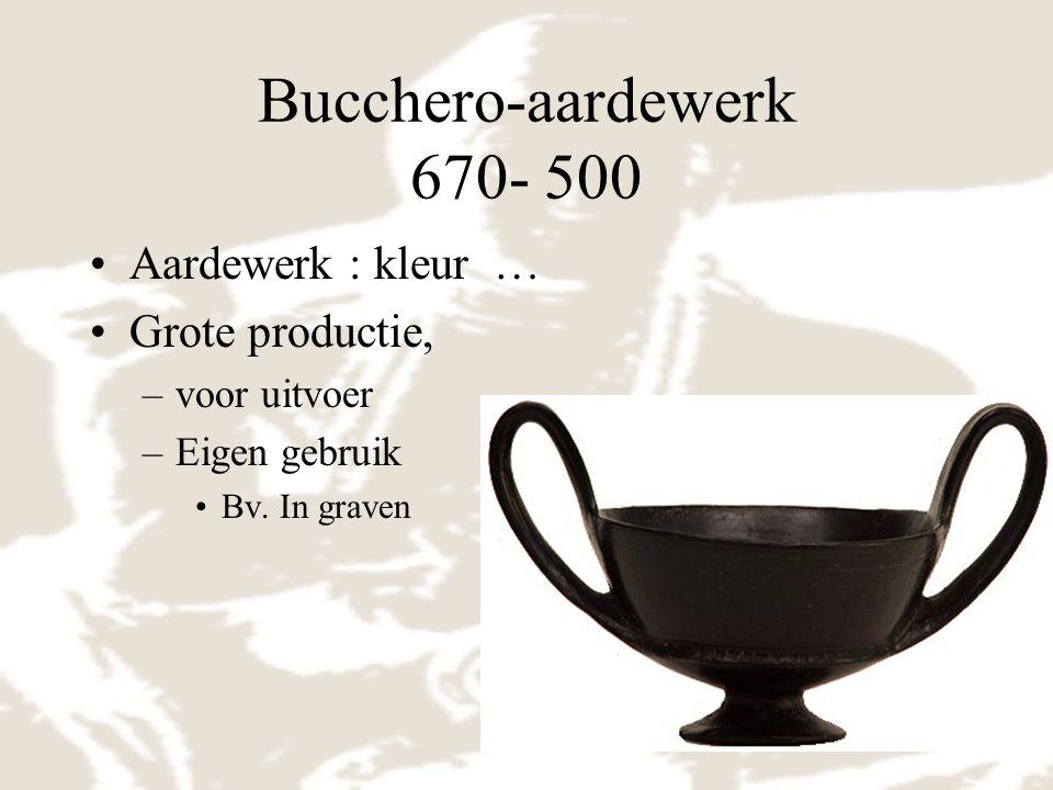 Bucchero-aardewerk 670- 500 Aardewerk : kleur … Grote productie,