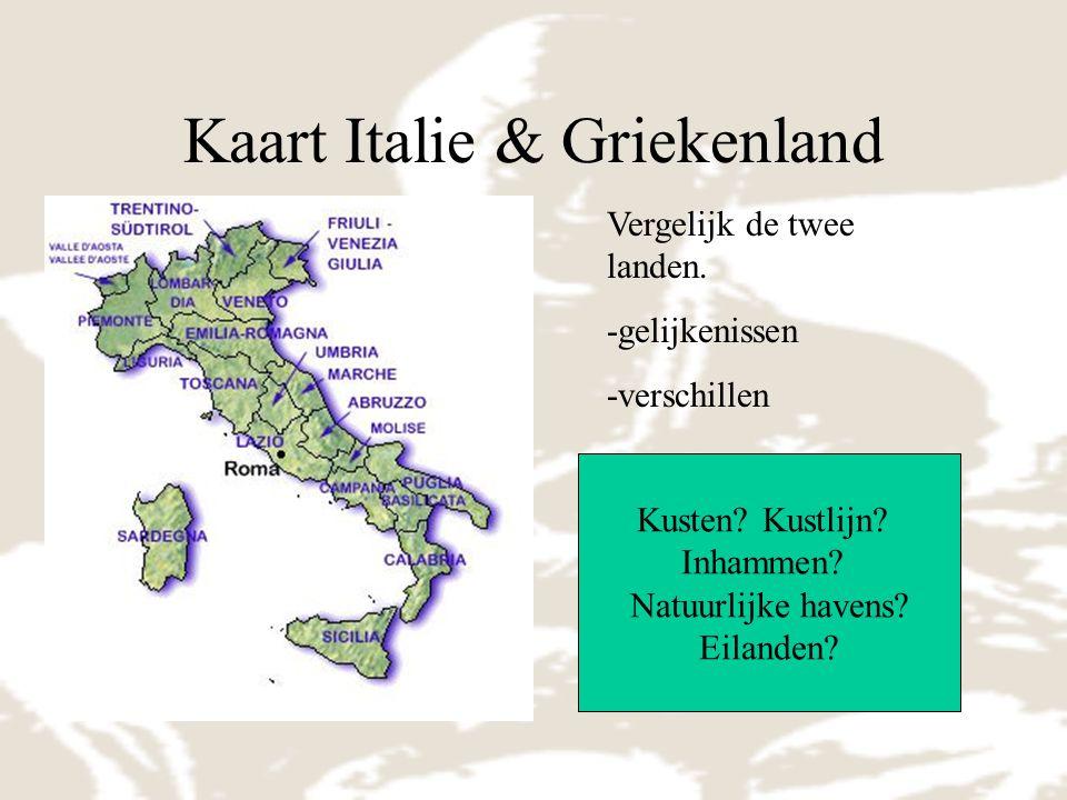 Kaart Italie & Griekenland