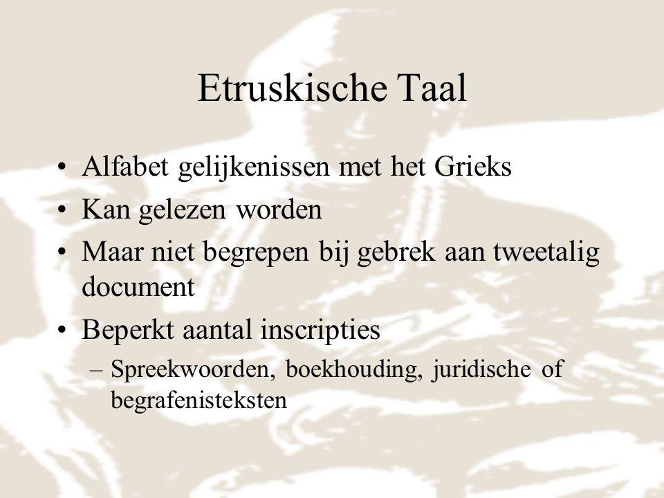 Etruskische Taal Alfabet gelijkenissen met het Grieks