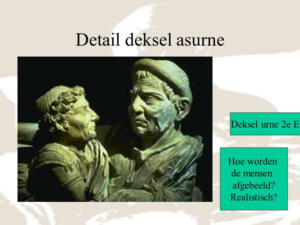 Detail deksel asurne Deksel urne 2e E Hoe worden de mensen afgebeeld