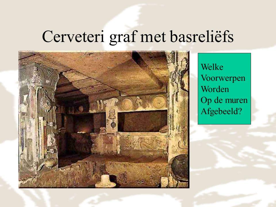 Cerveteri graf met basreliëfs