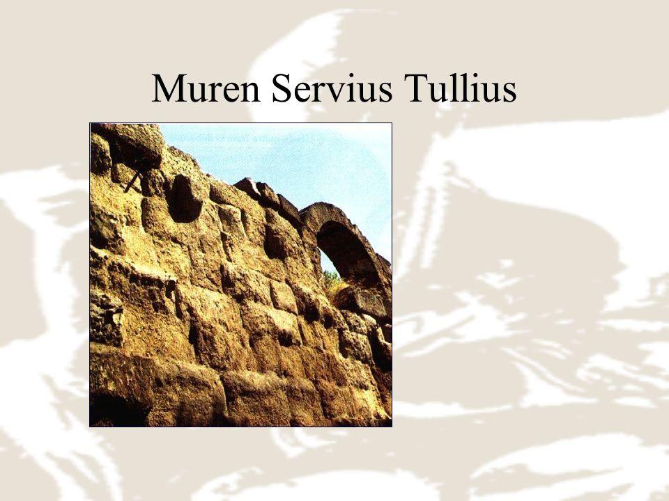 Muren Servius Tullius Enceinte du roi étrusque Servius Tullius entourant les 7 collines du site de Rome.