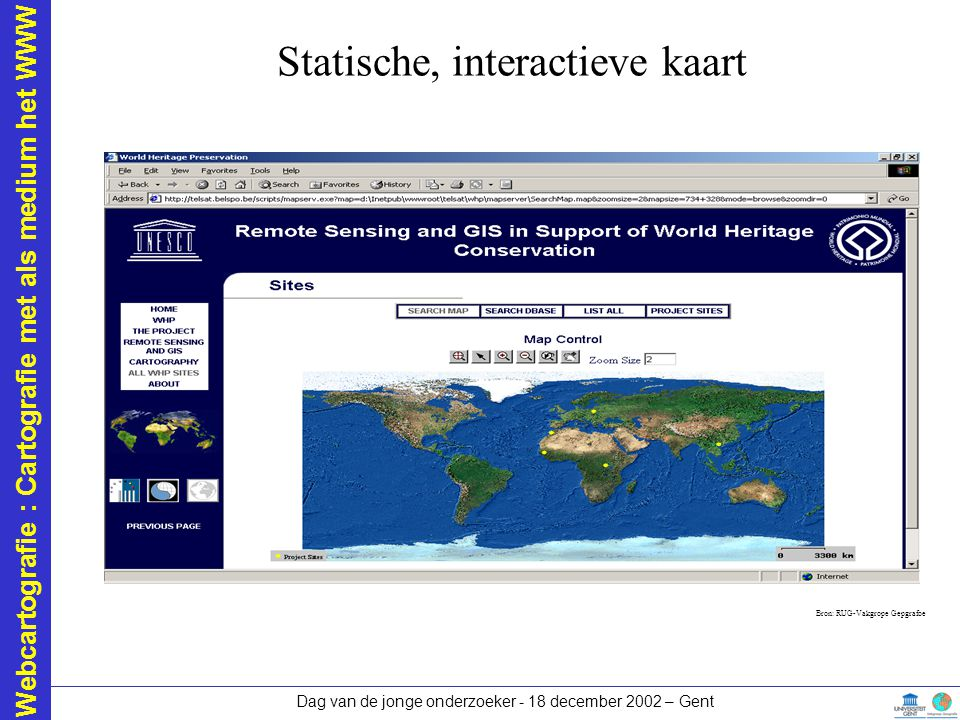 Statische, interactieve kaart