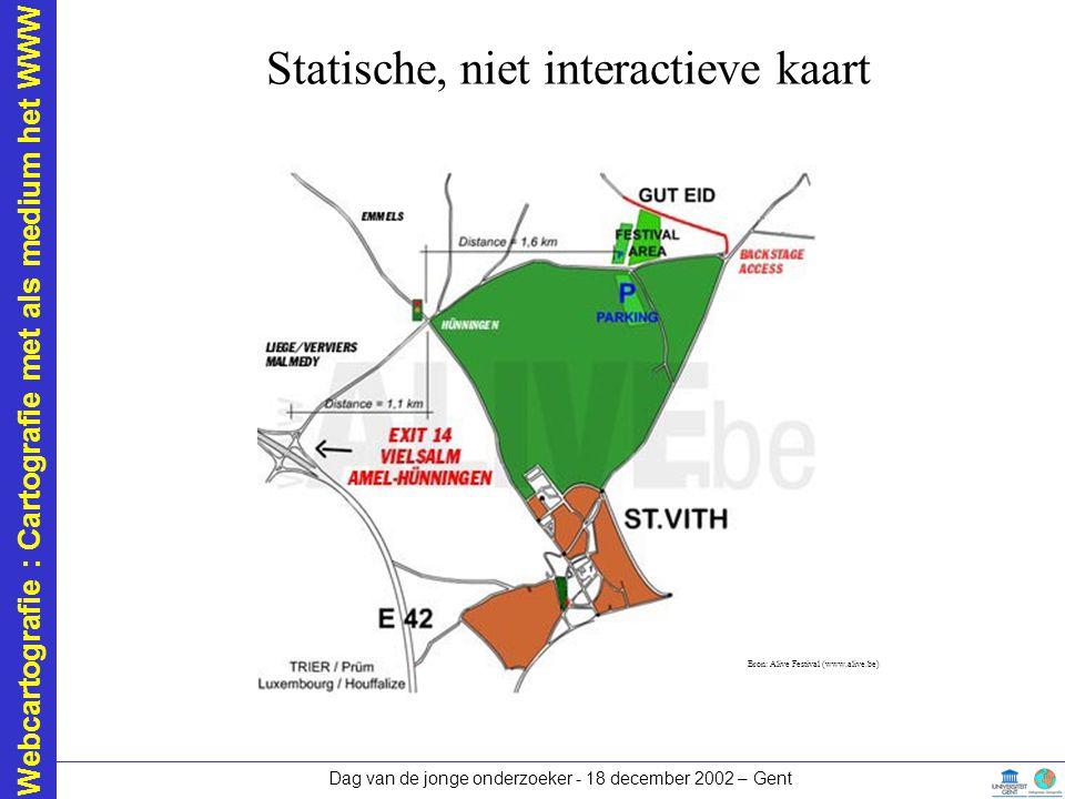 Statische, niet interactieve kaart