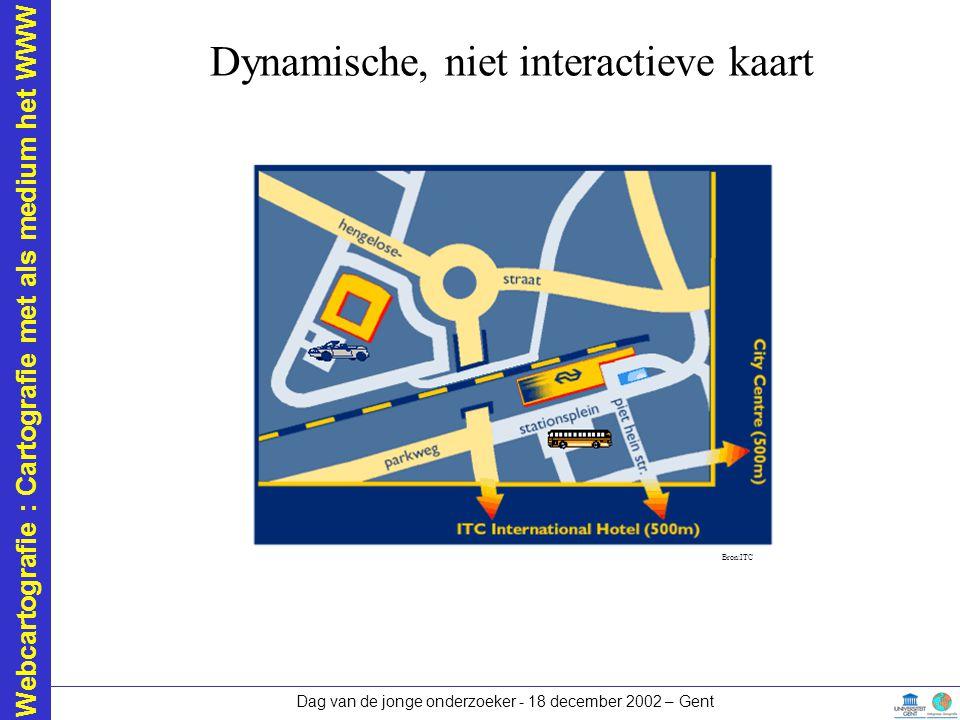 Dynamische, niet interactieve kaart