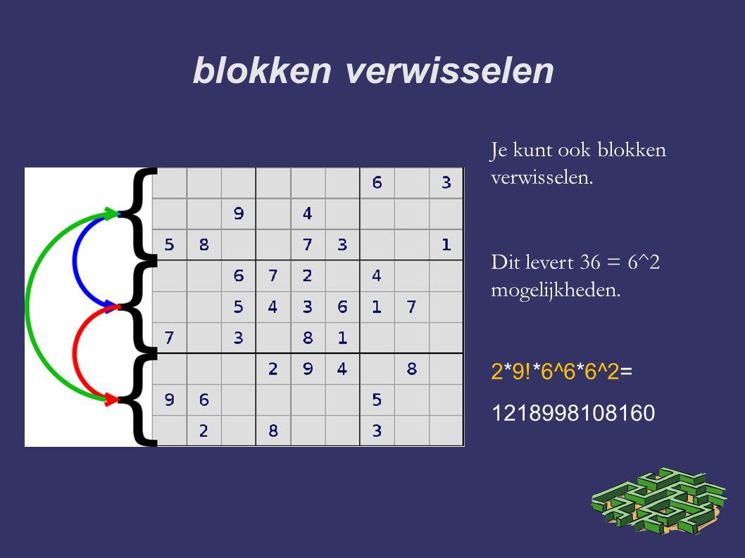 blokken verwisselen Je kunt ook blokken verwisselen.
