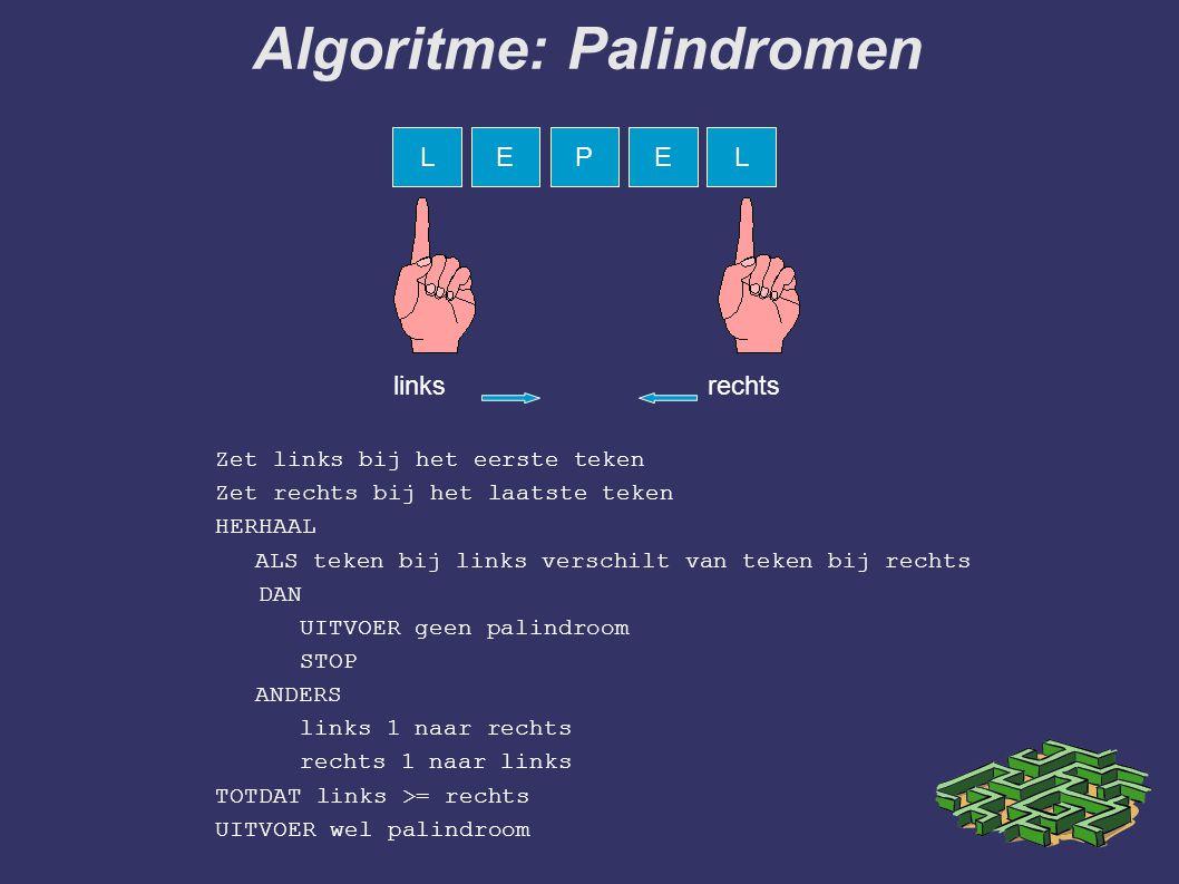 Algoritme: Palindromen