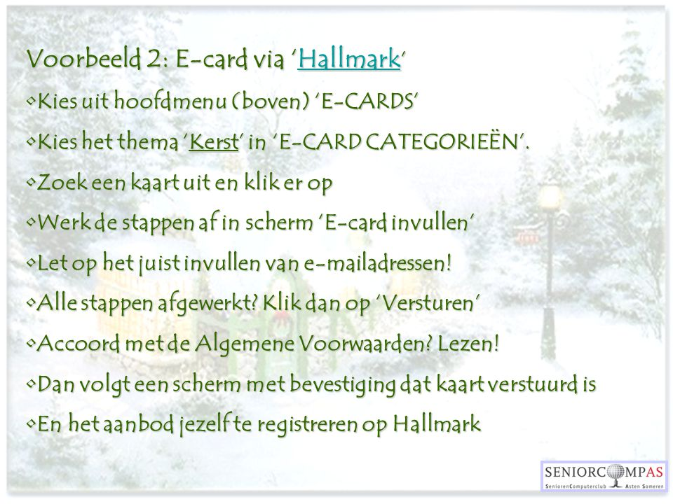 Voorbeeld 2: E-card via 'Hallmark'