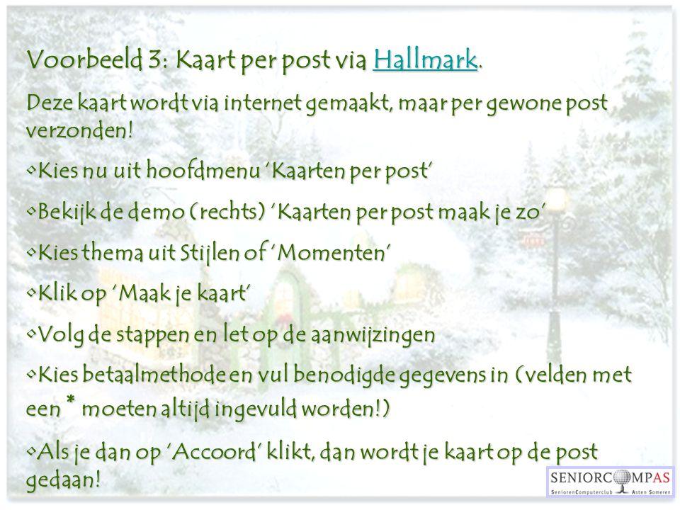 Voorbeeld 3: Kaart per post via Hallmark.