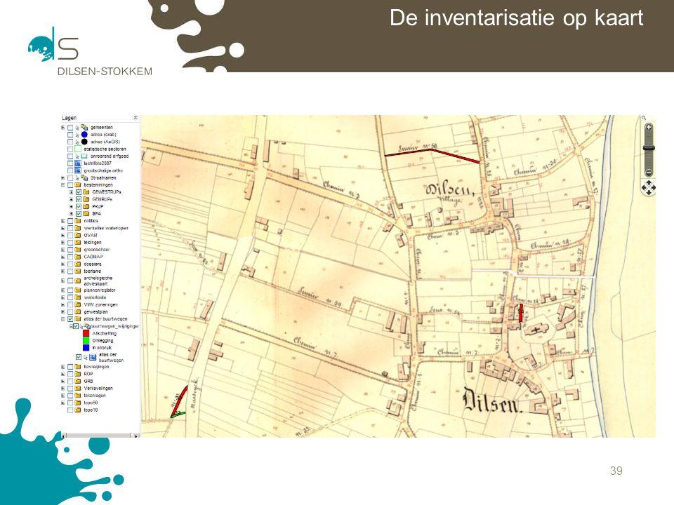 De inventarisatie op kaart