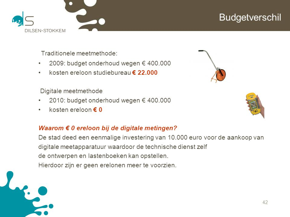 Traditionele meetmethode: