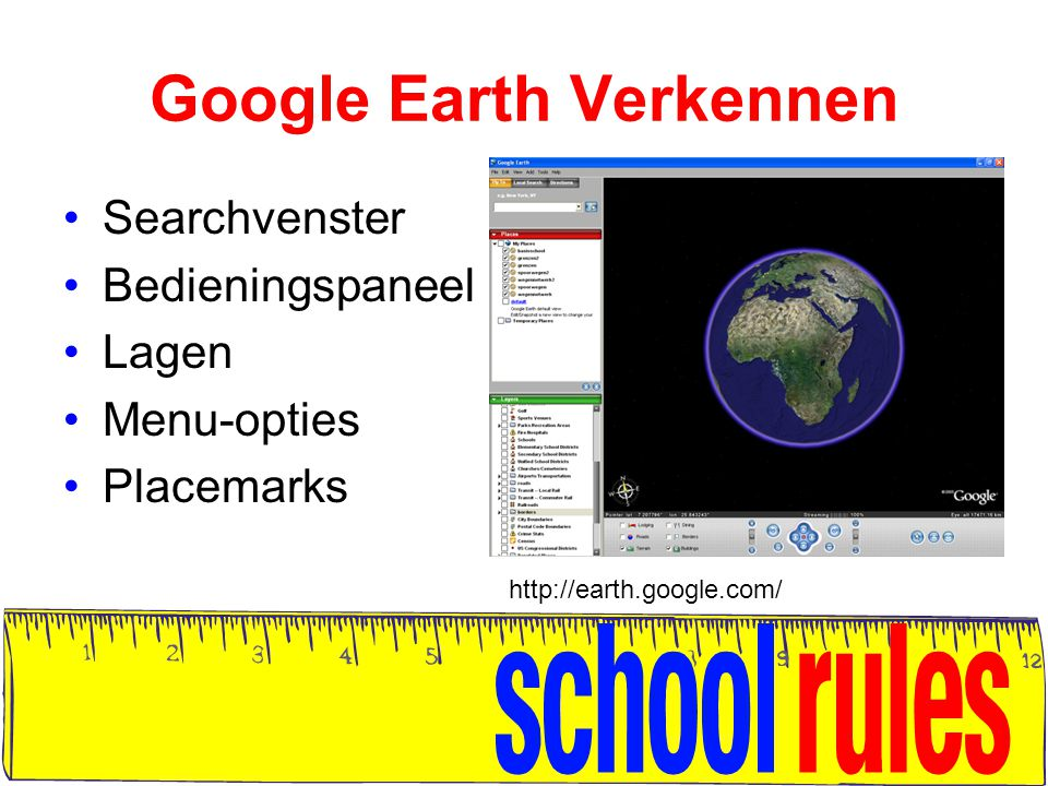 Google Earth Verkennen