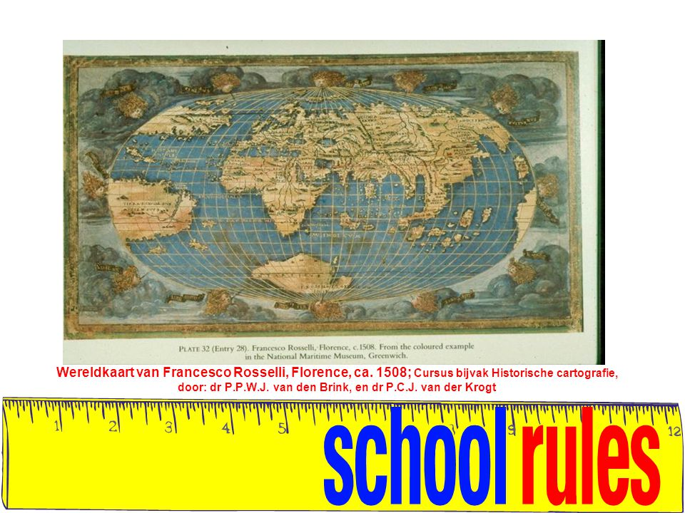 Wereldkaart van Francesco Rosselli, Florence, ca