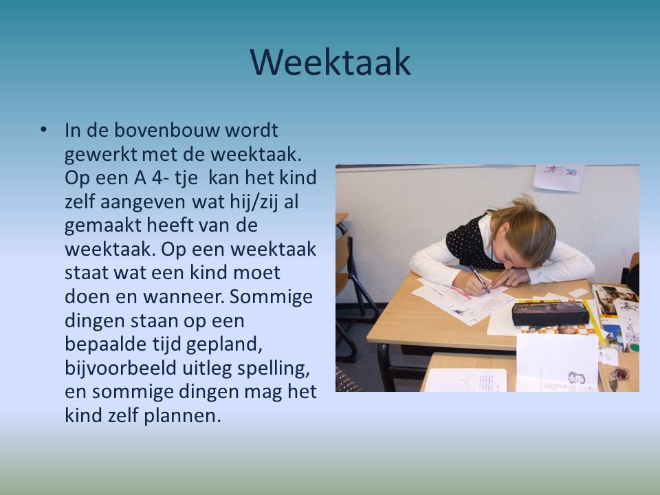 Weektaak