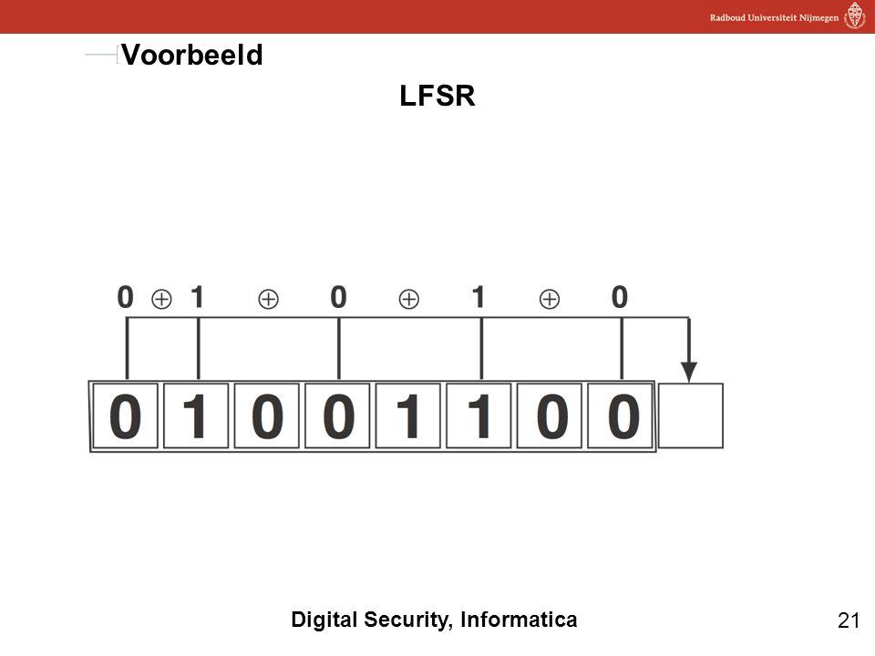 Voorbeeld LFSR Terugkoppeling: vragen wat de volgende bit is