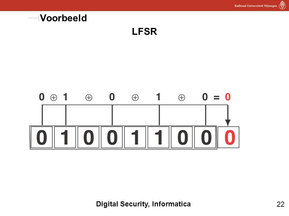 Voorbeeld LFSR