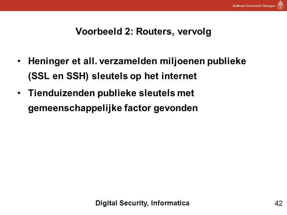 Voorbeeld 2: Routers, vervolg