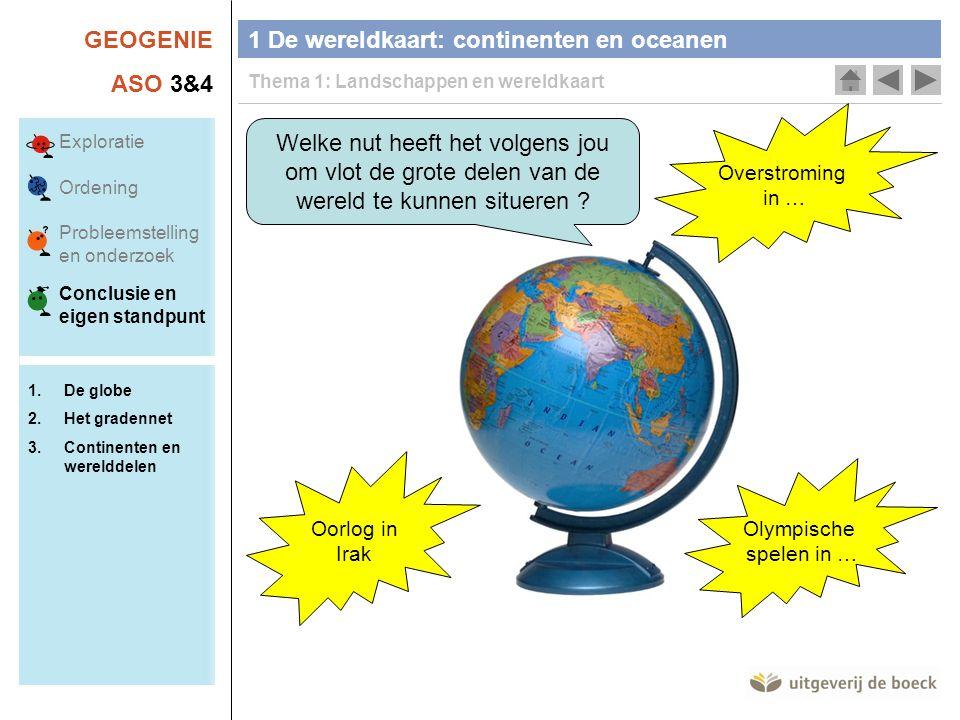 1 De wereldkaart: continenten en oceanen