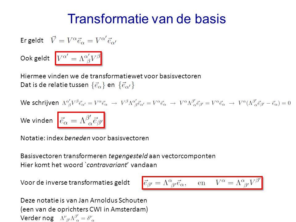 Transformatie van de basis