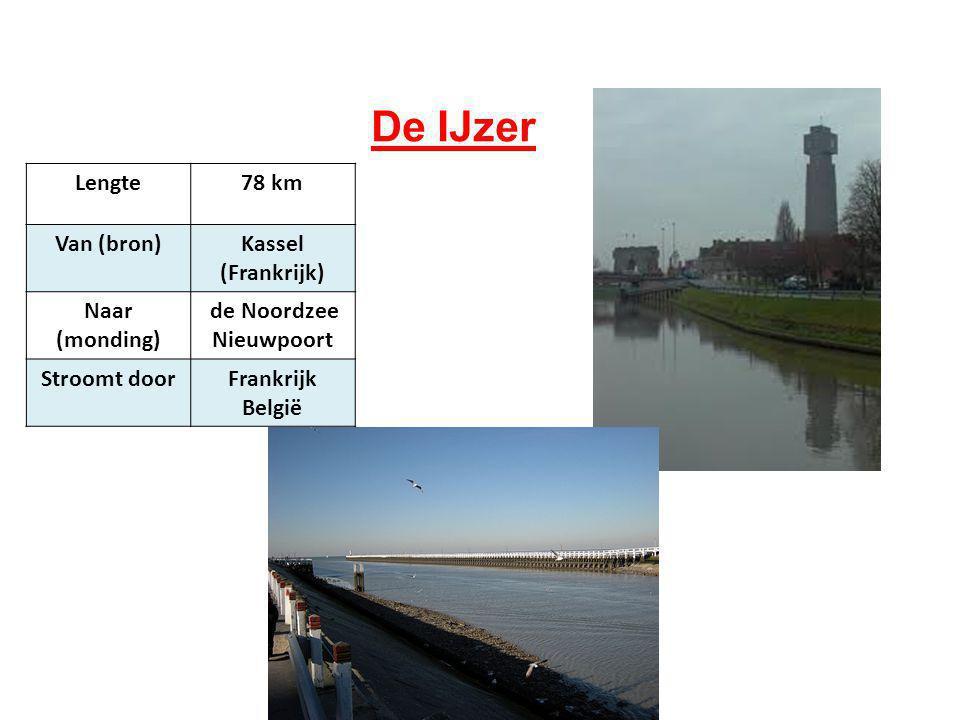 De IJzer Lengte 78 km Van (bron) Kassel (Frankrijk) Naar (monding)