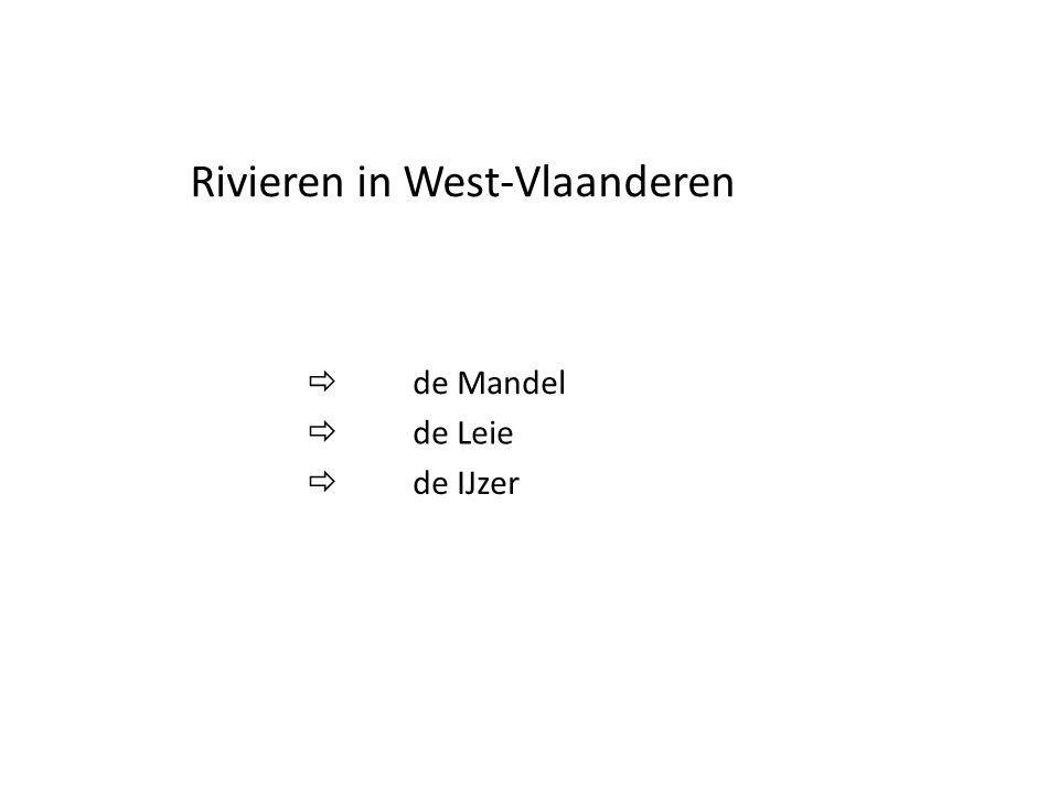 Rivieren in West-Vlaanderen