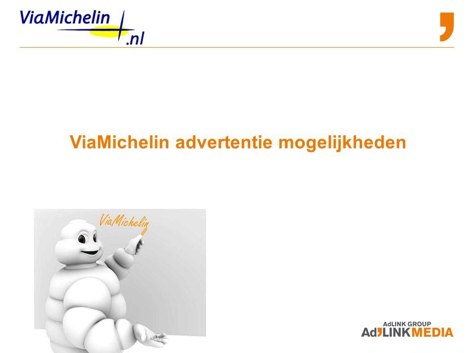 ViaMichelin advertentie mogelijkheden
