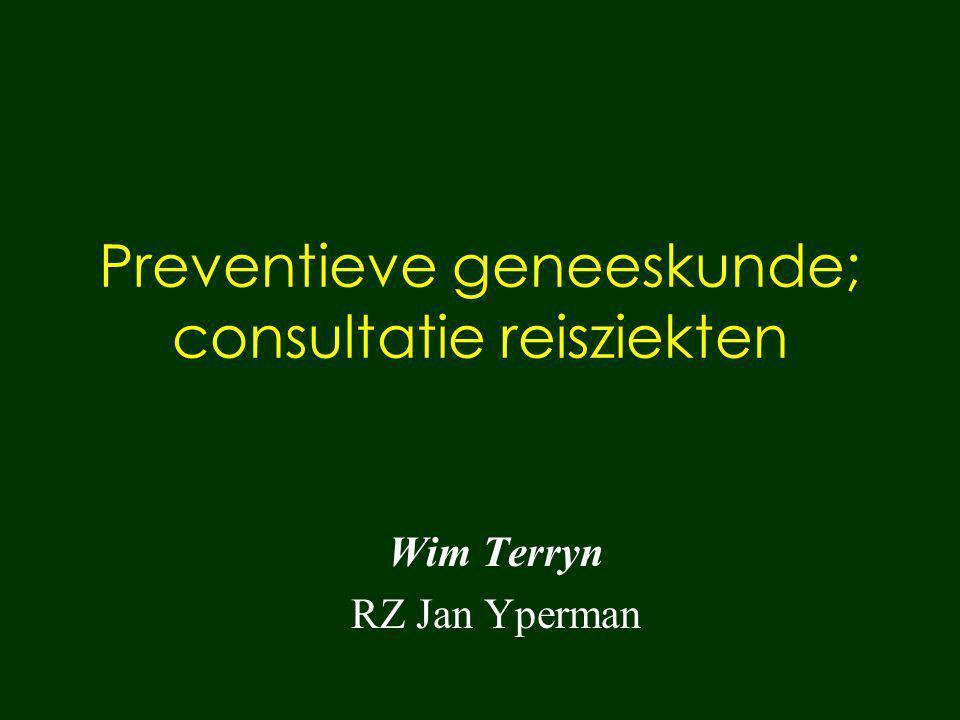 Preventieve geneeskunde; consultatie reisziekten