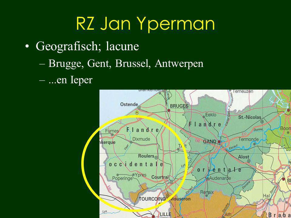 RZ Jan Yperman Geografisch; lacune Brugge, Gent, Brussel, Antwerpen