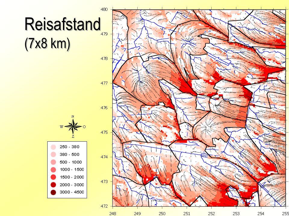 Reisafstand (7x8 km)