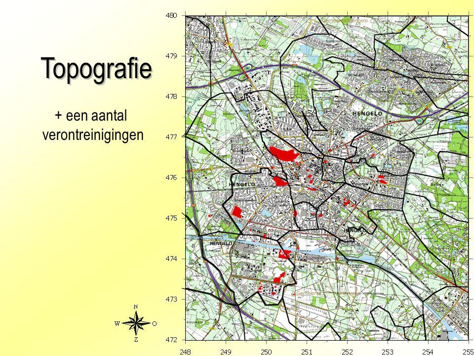 Topografie + een aantal verontreinigingen