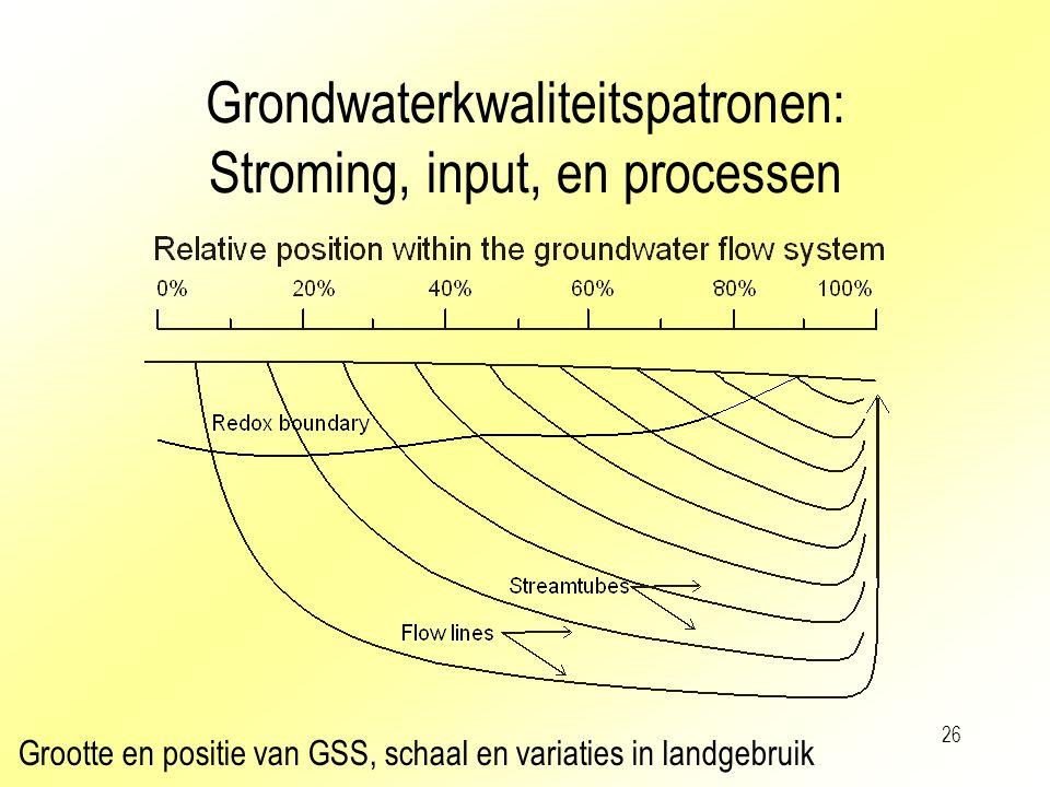 Grondwaterkwaliteitspatronen: Stroming, input, en processen