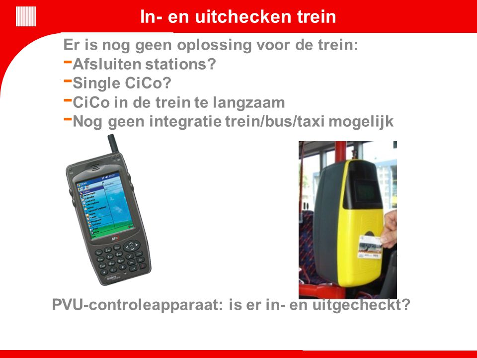 In- en uitchecken trein