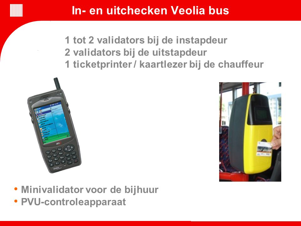 In- en uitchecken Veolia bus