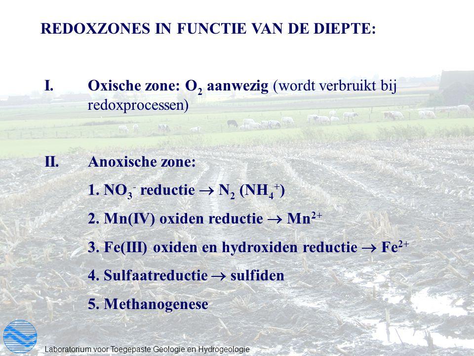 REDOXZONES IN FUNCTIE VAN DE DIEPTE: