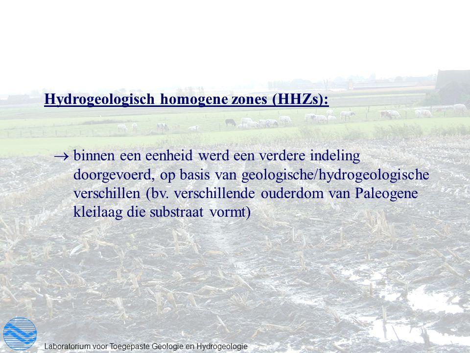 Hydrogeologisch homogene zones (HHZs):
