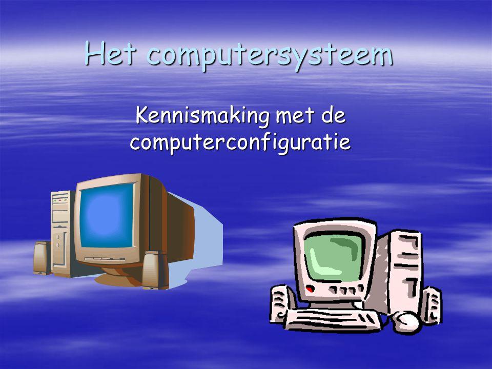 Kennismaking met de computerconfiguratie