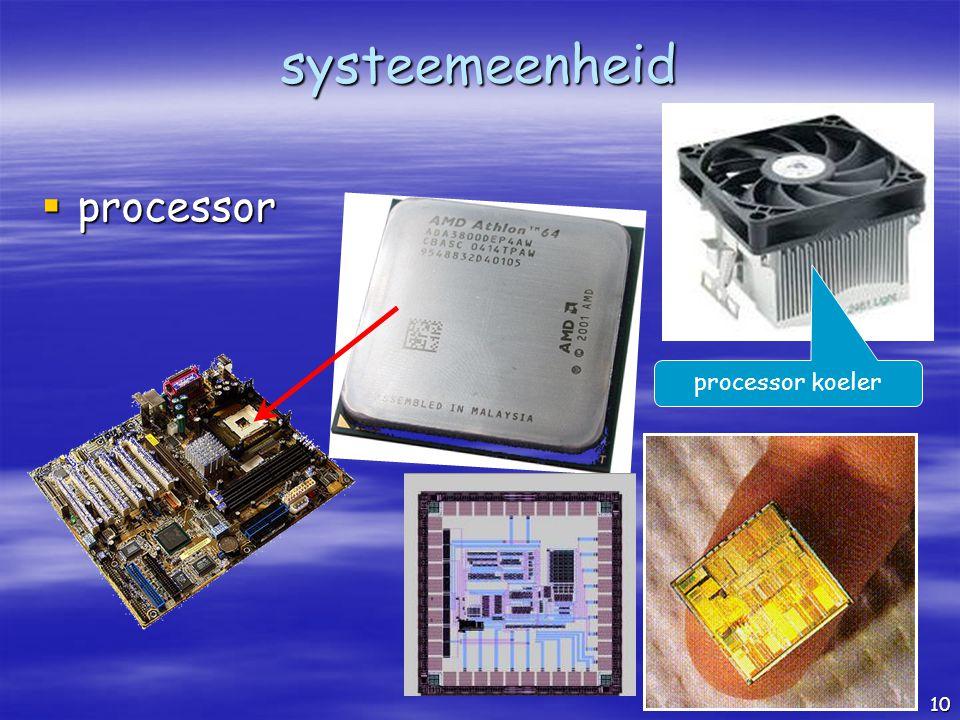 systeemeenheid processor processor koeler