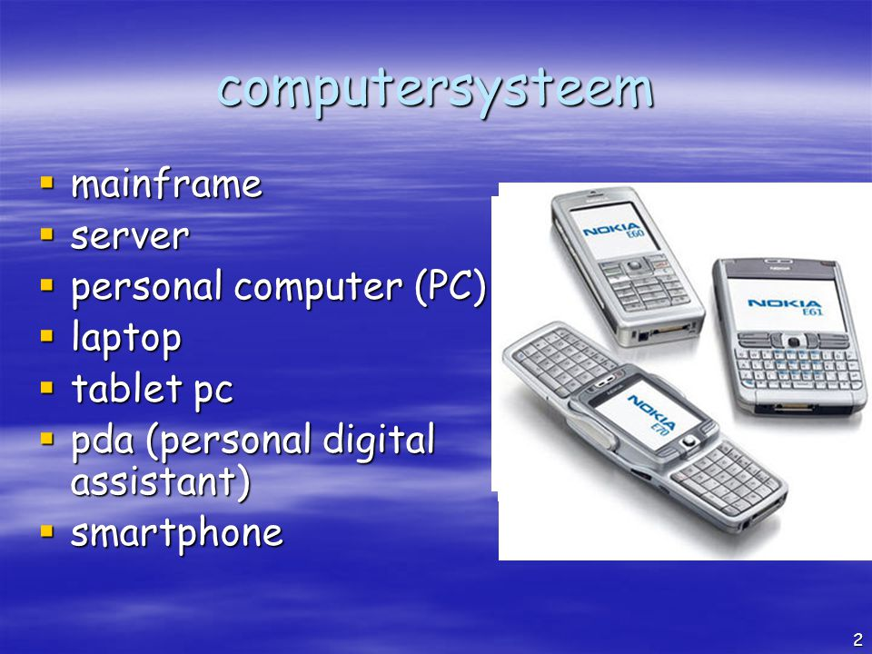 computersysteem mainframe server personal computer (PC) laptop