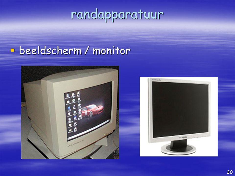 randapparatuur beeldscherm / monitor