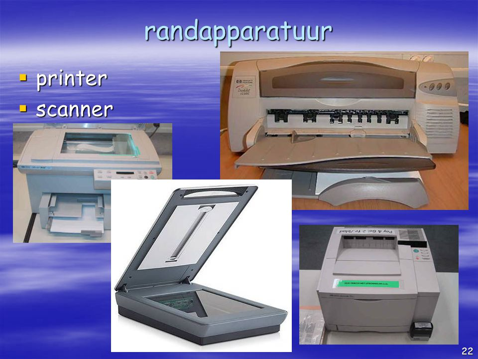 randapparatuur printer scanner