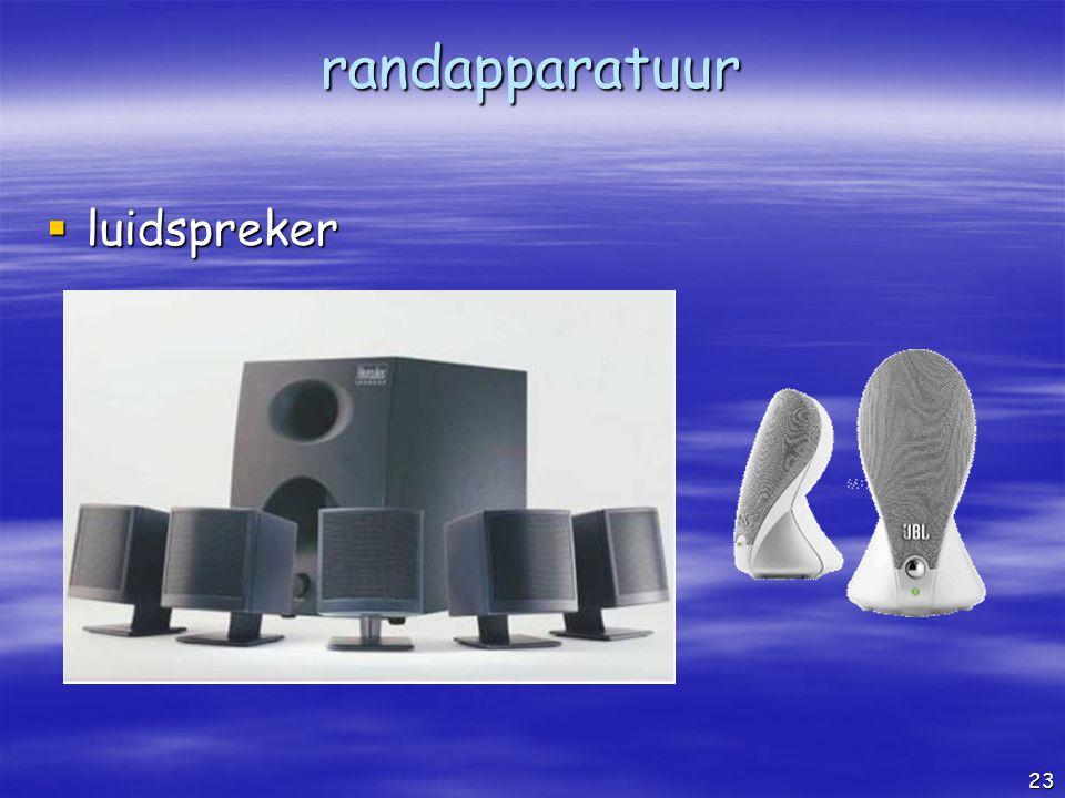 randapparatuur luidspreker