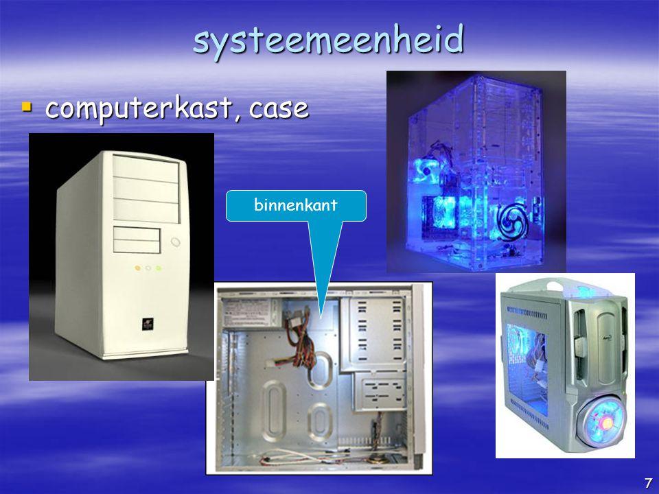 systeemeenheid computerkast, case binnenkant