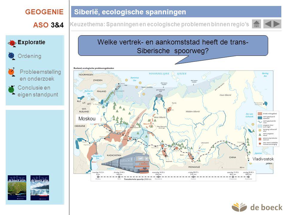Welke vertrek- en aankomststad heeft de trans-Siberische spoorweg