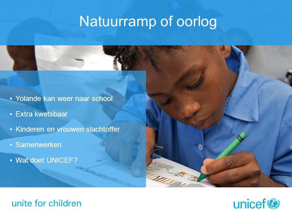 Natuurramp of oorlog Yolande kan weer naar school Extra kwetsbaar