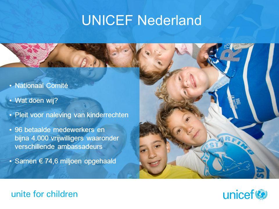 UNICEF Nederland Nationaal Comité Wat doen wij