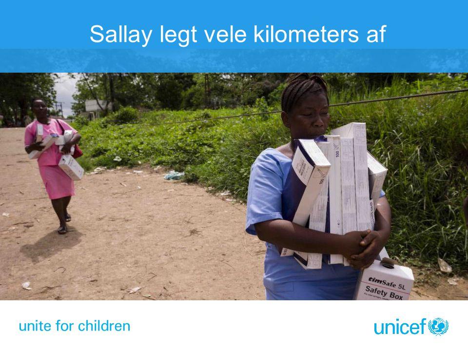Sallay legt vele kilometers af